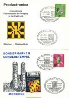 I3  Informatique, électronique: 2 Oblit. Temp. D'Allemagne, 1987 –  Computer, Electronics, Informatics Fair Munich. PCB - Informatik