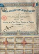 ACTION TITRE DE 500 FRANCS N°033401 - S.A DES CARGOS FRANCAIS 12/02/1920 - Actions & Titres