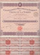 ACTION TITRE DE 100 FRANCS N°025 288 - EMAILLERIES REUNIES ET FORGES DE CREIL ET DE LA SARRE 15/12/1921 - Shareholdings