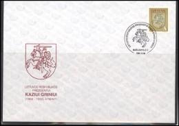 LITHUANIA Cover Special Cancellation LT SPEC 097 President Kazys GRINIUS Anniversary - Lituania