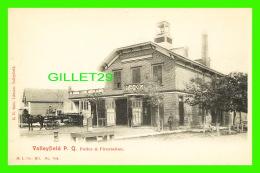 VALLEYFIELD, QUÉBEC - POSTE DE POLICE & POMPIER - POLICE & FIRESTATION IN 1900  - ANIMATED - E. H. SOLIS, LIBRAI - Quebec