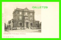 VALLEYFIELD, QUÉBEC - BANQUE D'HOCHELAGA EN 1900 - ANIMÉE - E. H. SOLIS, LIBRAIRE -  M. I. CO. - - Autres