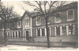 CHEF-BOUTONNE  - Ecole Publiqe Et Pensionnat De Jeunes Filles - Chef Boutonne