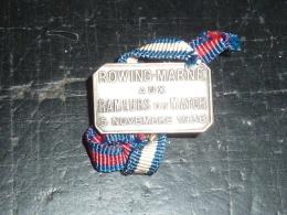 BROCHE BOUTONNIERE AVIRON - ROWING MARNE AUX RAMEURS DU MATCH 5 NOVEMBRE 1938 - RARE AVIRON SPORT - Rowing