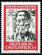 Österreich - Michel  1841 - ** Postfrisch (C) - Oskar Kokoschka - 1945-.... 2nd Republic