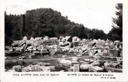Orig.Fotokarte 1954 - OLYMPIA Le Temple De Zeus Et Le Kronion, Karte Gel.1954 Mit 800 ? Sondermarke, Fotoformat Ca. ... - Griechenland