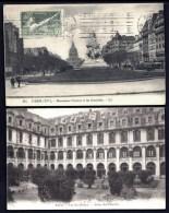 LOT 2 CPA ANCIENNES- PARIS (75)- VAL-DE-GRACE- COUR DU CLOITRE + MONUMENT PASTEUR ET INVALIDES- 2 SCANS - Salute, Ospedali
