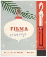 Publicité. Illustrateur.Cinéma. Filma. Bruxelles.  Voeux Pour 1956. Carte à Volet - Reclame