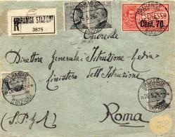 1926 LETTERA RACCOMANDATA ESPRESSO CON ANNULLO SPARANISE STAZIONE - Posta Espresso