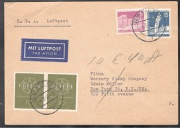 Berlin1960:Michel Berlin141,145 And Bund.320(pair)on Card To US - [5] Berlin