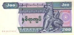 MYANMAR 200 KYATS ND (2004) P-78 UNC [MM112a] - Myanmar