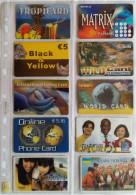 LOTTO 10 SCHEDE PREPAGATE USATE DIFFERENTI RARE (11P - [2] Sim Cards, Prepaid & Refills