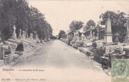 BRUXELLES - BELGIQUE -  BELLE ET RARE CPA PRÉCURSEUR DE 1906 - LE CIMETIÈRE DE SAINT JOSSE - St-Josse-ten-Noode - St-Joost-ten-Node