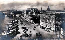 STOCKHOLM - Utsicht Fran Grand Hotel, Dampfschiff Anlegeplatz Gel.1920, 10 Öre Marke - Schweden