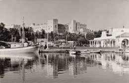RHODOS - Fotokarte Gel.1960, 2 Sondermarken - Griechenland