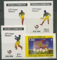 Dominikanische Republik 1988 Olympiade Seoul 1563/66 Postfrisch - Dominikanische Rep.
