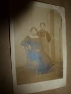 1914 Photographie Mère Et Fille  (mère Assise, Fille Debout) - Couples