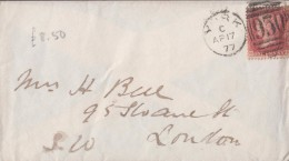 """1877 """"1d Red"""" (SG43 / 44) (plate 193), Cancelled By Fairly Good """"YORK / 930"""" Duplex.  Ref """"E.L.003"""". - Postmark Collection"""