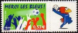 France Personnalisé N° 3936.B ** Football - Merci Les Bleus - Logo Privé Footix - Personnalisés