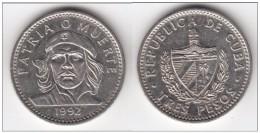 CUBA - 1992 - 3 Pesos Che Guevara Bella Moneta In Condizioni Spl - Cuba