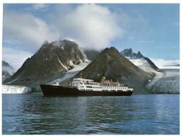 (M+S 555) Norway - Express Coastal Liner In Magdalena Fjord - Ferry - Transbordadores