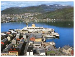 (M+S 555) Norway - Express Coastal Liner In Hammersfest - Ferry - Ferries