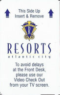Resorts Casino Atlantic City, NJ - Inovative On Reverse - Hotel Keycards