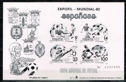 Spain.1982 World Cup.Soccer.Football.Fussball.Black Print.MNH** - Copa Mundial