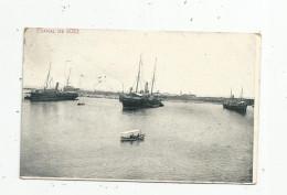 Cp , Bateaux De Commerce , EGYPT , EGYPTE , CANAL DE SUEZ , Voyagée 1916 - Commerce