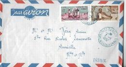 Côte Française Des Somalis  Lettre Par Avion Du 03 / 01 :/1952 DE Djibouti Vers Lunéville - Lettres & Documents