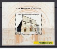 ITALY ITALIA 2010. SOUVENIR SHEET. ROMANIC ART IN ABRUZZO. CHURCH - 2001-10: Ungebraucht