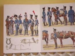 TRAIN DES EQUIPAGES 1807 1815 UNIFORME ARMEMENT EQUIPEMENT PAR ROUSSELOT EMPIRE CHARRETIER CAPOTE OUVRIER COLLIER - Uniform