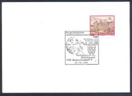 Austria Österreich 1986 Cancellation: MINERALS MINERAUX FOSSILS FOSSIELEN; Space Weltraum; Mondgestein - Mineralien
