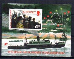 Alderney - 1995 - 50th Anniversary Of Return Of Islanders Miniature Sheet - MNH - Alderney