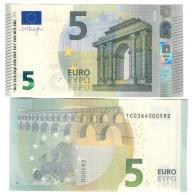 5 € NEW Irlanda Draghi TC T003D4  FDS UNC DA MAZZETTA  Cod.€.234 - 5 Euro