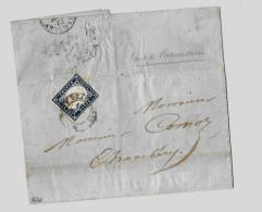 Duché De Savoie  « PONT DE BEAUVOISIN »LSI - 7,5gr. - Tarif à 20c.  * 1.1.1851 – 31.10.1859 *S. N°15Aa - Sardaigne