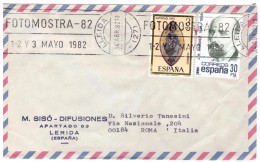STORIA  POSTALE - SPAGNA - ESPANA - ANNO 1982 - FOTOMOSTRA '82 - LERIDA - LLEIDA - SISò-DIFUSIONES - - 1875-1882 Regno: Alfonso XII