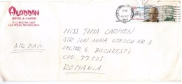 STORIA  POSTALE - USA - AMERICA - ANNO 1989 - USA AIR MAIL - LAS VEGAS  - PER TOMA CARMEN - BUCAREST - ROMANIA - - America Centrale