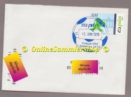 Privatpost - PIN AG  - Gel. Umschlag - Stempel: Fußball.WM Südafrika 2010 Marke: Ampelmännchen - 2010 – Südafrika
