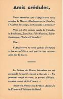 """WW2 - 1942 - TRACT ANTI-ANGLAIS """"Amis Crédules, Vous Attendez Que L´Angleterre Nous Restitue Le Maroc Etc."""" - Documents Historiques"""