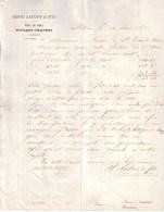 SUISSE - MOTIERS TRAVERS - VINS EN GROS - HENRI LATOUR & FILS - LETTRE - 1878 - Suisse