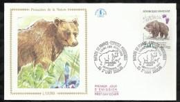 NATURE DE FRANCE . ESPECES PROTEGEES . L'OURS . 14 SEPTEMBRE 1991 . ST LARY SOULAN . - FDC