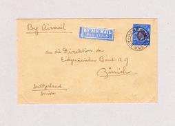 GB Hong-Kong 18.4.1935 Luftpost Brief Nach Zürich Mit 1$ Einzelfrankatur - Hong Kong (...-1997)