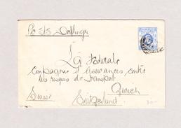 GB Hong-Kong 1910 Brief Per SS Oerfflinger In Die Schweiz Mit AK-Stempel Zürich 2.11.1910 - Hong Kong (...-1997)