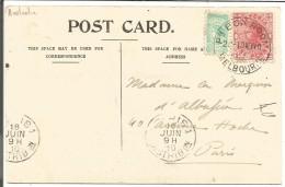 AUSTRALIE VICTORIA CARTE DE MELBOURNE POUR LA FRANCE DU 19/5/1910 - 1850-1912 Victoria