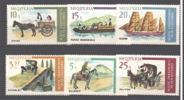 Albania 1975 MNH Transport 6v. - Albania