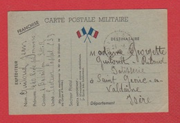 Carte Postale Militaire  / 20 Avril 1940 - Postmark Collection (Covers)
