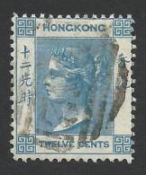 Hong Kong, 12 C. 1863, Sc # 15, Mi # 12a, Used. - Hong Kong (...-1997)