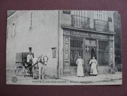 CPA 21 PONTAILLER SUR SAONE Maison Garnier BOUCHERIE 1910 ? RARE & TOP ANIMEE METIERS VIANDE Canton AUXONNE - Other Municipalities