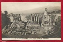 Italie - TAORMINA - Sicilia - Panorama Del Teatro On Veduta Dell'Etna - Altre Città